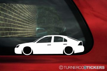2x LOW Ford Mondeo mk3 st220 , zetec 5-DOOR ,Silhouette  outline stickers, Decals